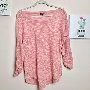 Express Coral Lightweight Sweater - M